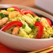 Rice Dish with Cabbage, Chicken and Shrimp — Stock Photo #12695594