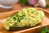 Baked Stuffed Zucchini — Stock Photo
