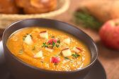 Sweet Potato and Apple Soup — Stock Photo
