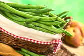 Raw Green Beans — Stock Photo