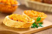 Sweet Potato Spread on Baguette — Stock Photo