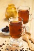 Hot Cacao Shell Tea — Stock Photo