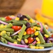 Stock Photo: Colorful Green Bean Salad