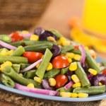 Colorful Green Bean Salad — Stock Photo