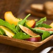 Fig, Nectarine and Spinach Salad — Stock Photo