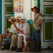 Stock Photo: Men in Salento, Colombia