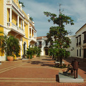 Square in Cartagena, Colombia — Stock Photo