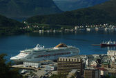 Cruise Ship in Aalesund, Norway — Foto Stock