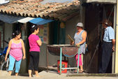 Selling Arepa in Salento, Colombia — ストック写真