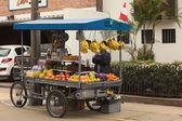 Fruit Cart in Miraflores, Lima, Peru — Stock Photo
