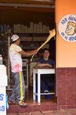Making Melcocha in Banos, Ecuador — Stock Photo