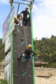 Climbing Wall in Banos, Ecuador — Stock Photo