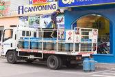 Gas Bottles on Truck in Banos, Ecuador — Stock Photo