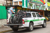 Pickup Truck with Bikes in Banos, Ecuador — Stock Photo
