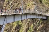 Bridge Jumping in Banos, Ecuador — Stock Photo