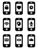 Vector phone with icons — Stock Vector