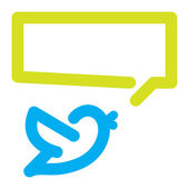 Bird tweets icon — Vector de stock
