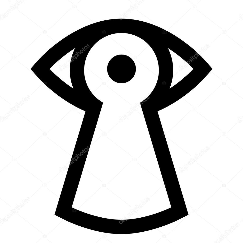 Eye looking through keyhole, vector icon — Stock Vector #13548996