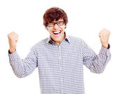 Winnende gelukkig man — Stockfoto