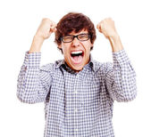 Young screaming man — Stock Photo