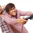 Video game teens — Stock Photo