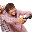 Stock Photo: Video game teens