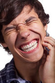 Guy with strong toothache — Stock Photo