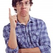 Guy with index finger up — Stock Photo