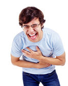 Guy with hearty laugh — Stock Photo