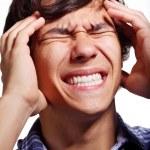 Guy with migraine — Stock Photo
