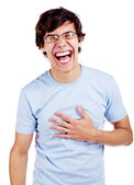 Laughing out loud guy — Stock Photo