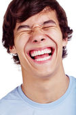 Laughing guy closeup — Stock Photo