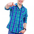 Stock Photo: Guy pointing at camera