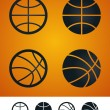 Basketball sign — Stock Vector