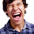 Shouting latin guy closeup — Stock Photo