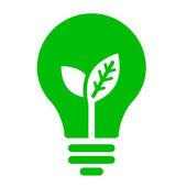 Ecology bulb icon — Stock Vector