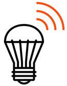 Wireless LED light icon — Stock Vector