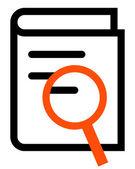 Book search outline icon — Stock Vector