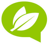 Ikona zielona dyskusja — Wektor stockowy