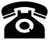 Classic phone icon — Stock Vector