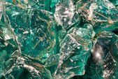 Πράσινο γυαλί βράχια — Φωτογραφία Αρχείου