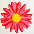Bright Red Flower on white wall — Stock Photo