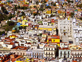 Buildings of many colors Mexico — Stock Photo