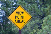 View Point Ahead Sign — Stock Photo