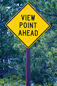 Sign for View Point Ahead — Stockfoto
