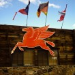 Red Flying Horse Sign — Stock Photo