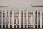 Old White Picket Fence — Stock Photo