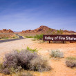 Valley of Fire State Park Sign - Stock Photo