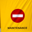Stock Photo: Maintenance Sign