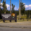 Yellowstone Park Sign — Stock Photo